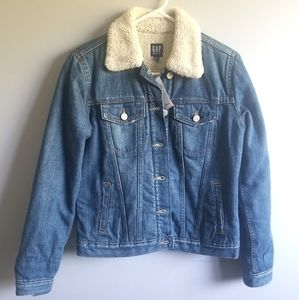 Gap denim sherpa jean jacket